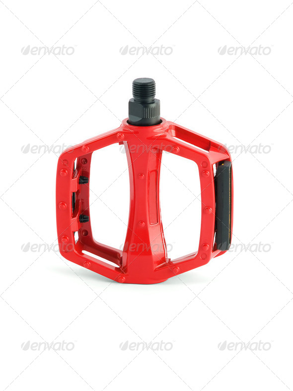 red cycling pedal - Stock Photo - Images