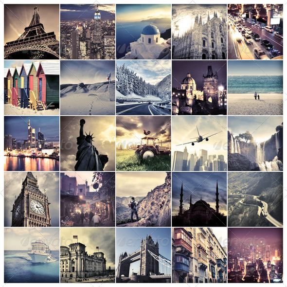 Travel destinations - Stock Photo - Images
