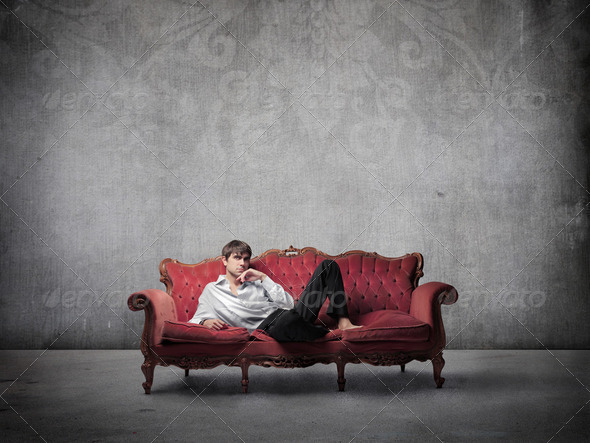 Comfortable sofa - Stock Photo - Images