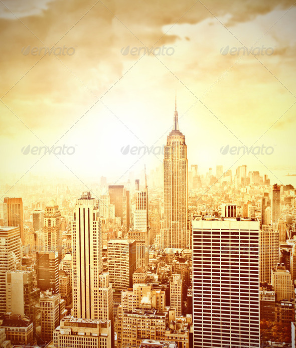 Morning in New York - Stock Photo - Images