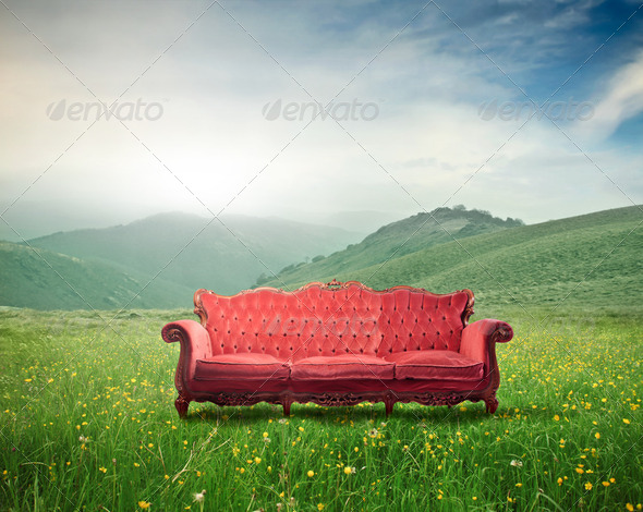 Comfort in the nature - Stock Photo - Images