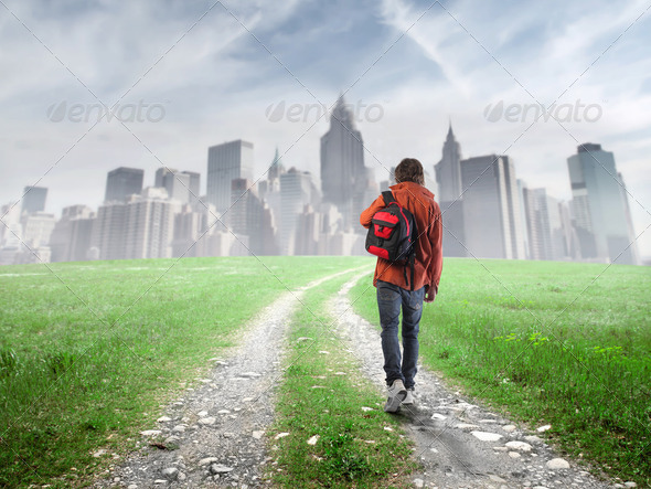 Move to the city - Stock Photo - Images