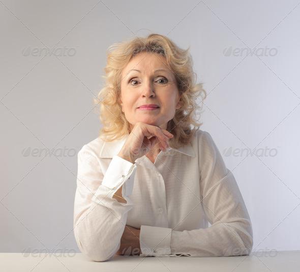 Senior lady - Stock Photo - Images