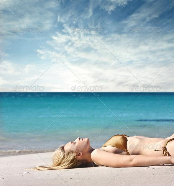 Enjoying summer holidays - Stock Photo - Images