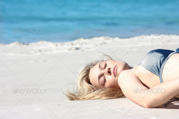 Relax at the beach - Stock Photo - Images