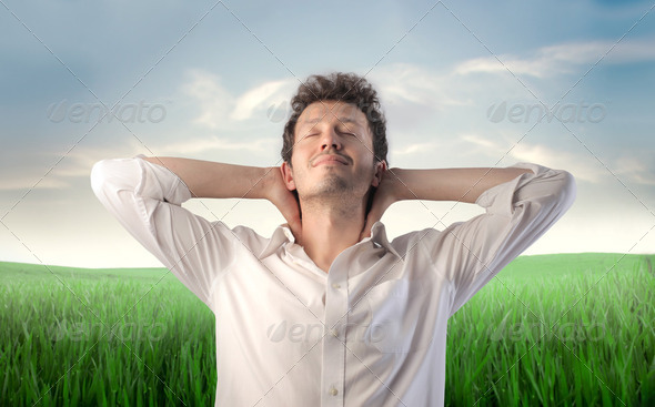 Relaxed man - Stock Photo - Images