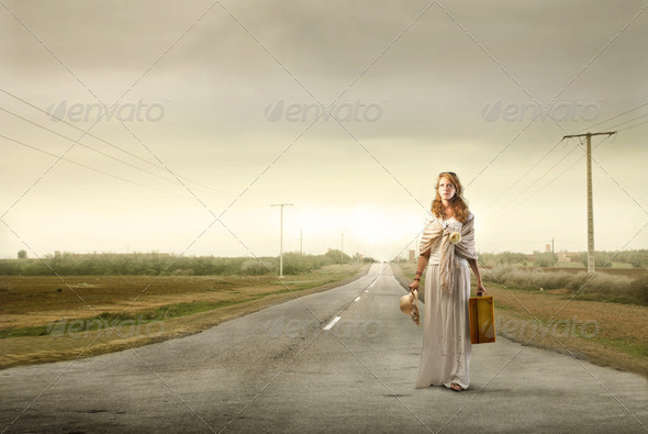 Travel by foot - Stock Photo - Images