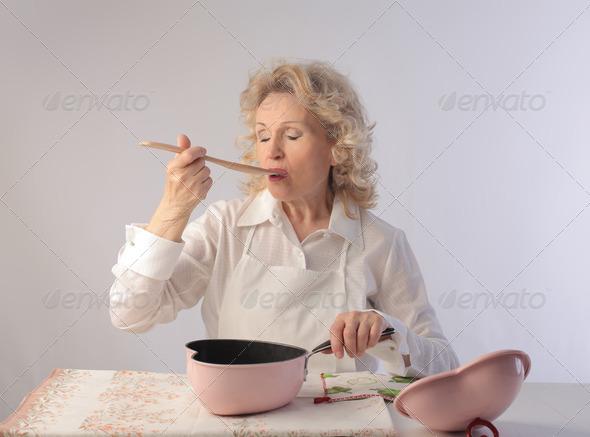 Food tasting - Stock Photo - Images