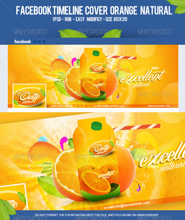 FB Timeline Cover Orange Natural - Facebook Timeline Covers Social Media