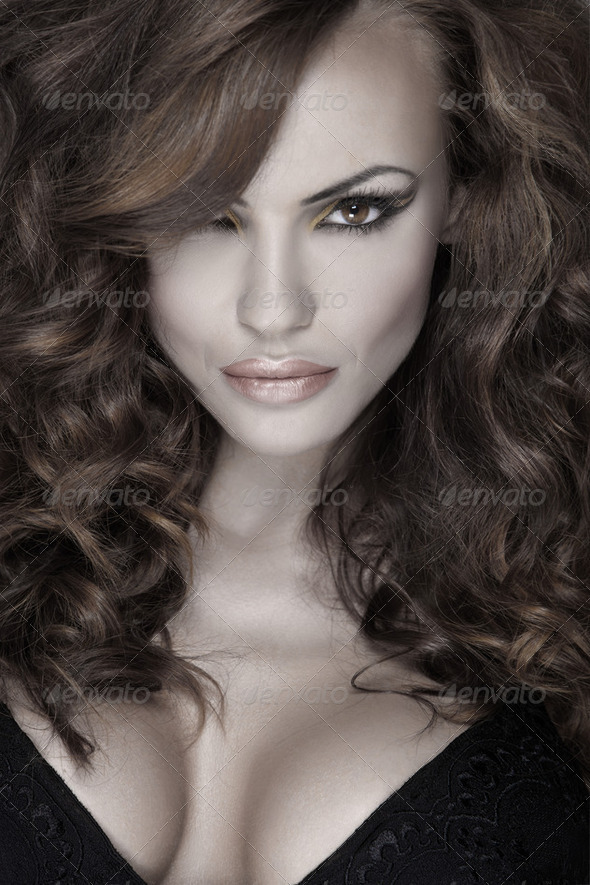 Sensuality and attractive young woman - Stock Photo - Images