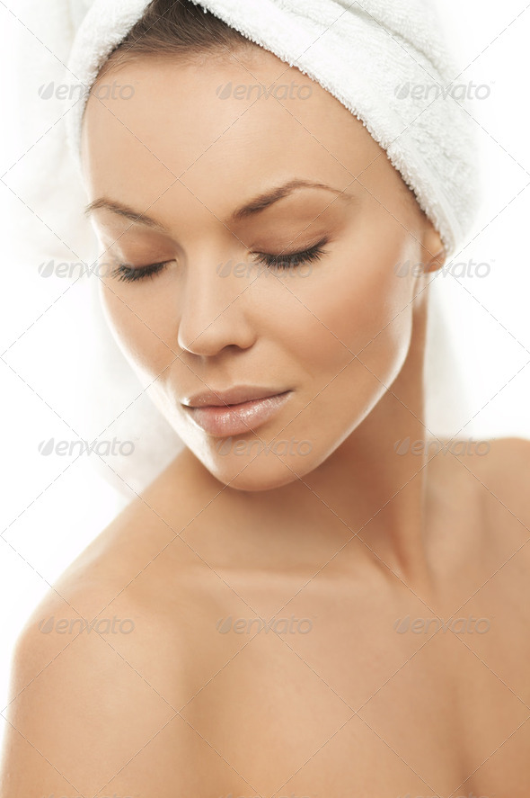 Beauty After Bath - Stock Photo - Images