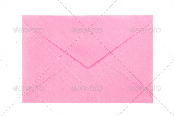 Pink envelope - Stock Photo - Images