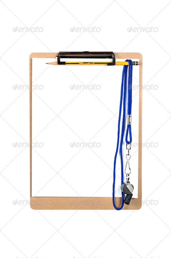 Clipboard and whistle - Stock Photo - Images