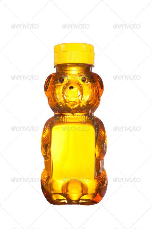 Bottle of honey - Stock Photo - Images