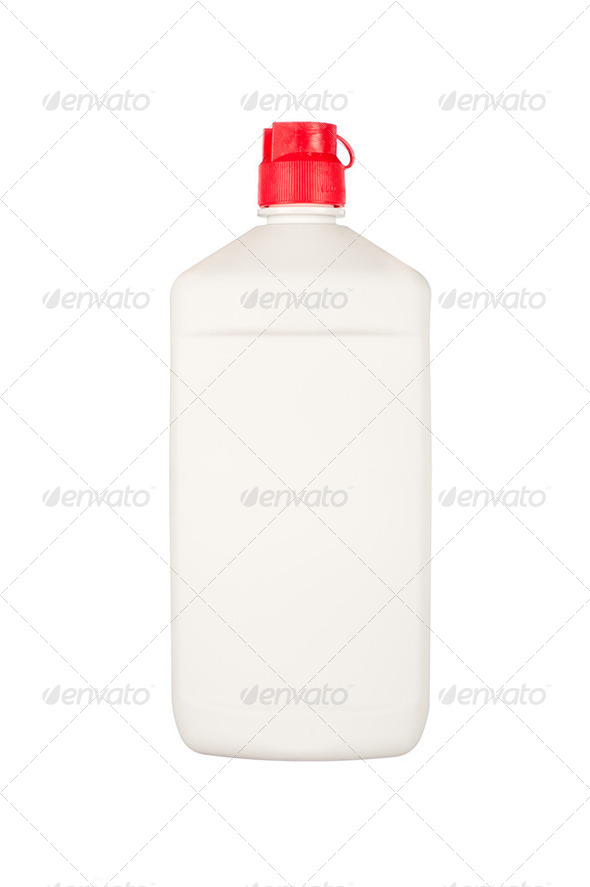 Blank plastic squirt bottle - Stock Photo - Images