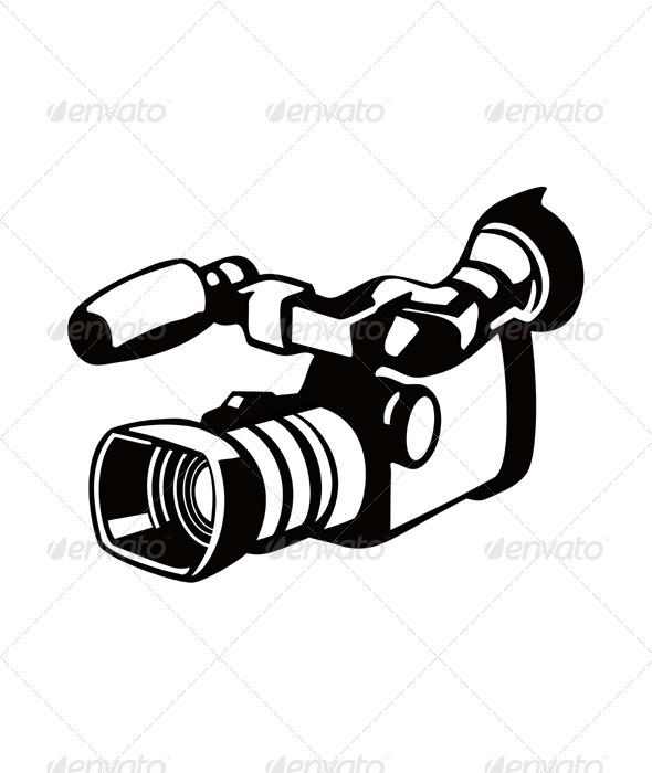 Movie Camera  Retro - Miscellaneous Vectors
