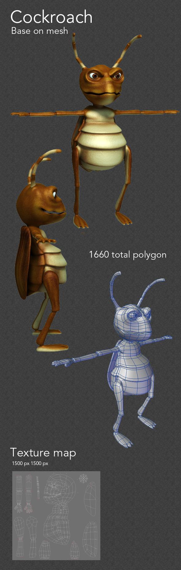 cockroach  - 3DOcean Item for Sale