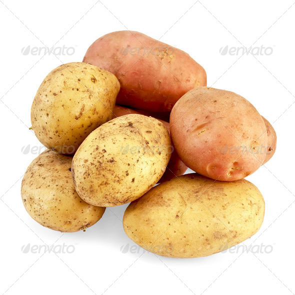 Potato pink and yellow - Stock Photo - Images