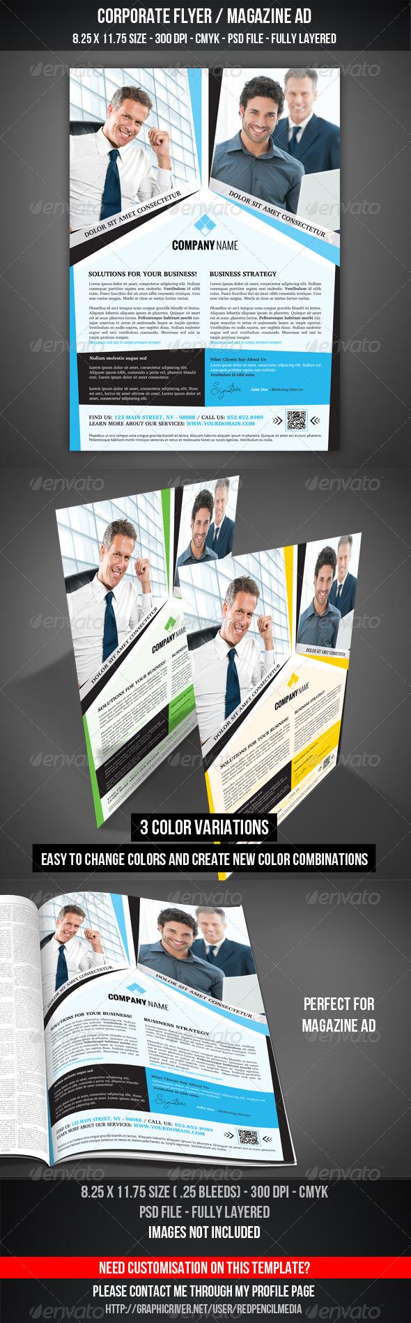 Corporate Flyer / Magazine AD - Corporate Flyers