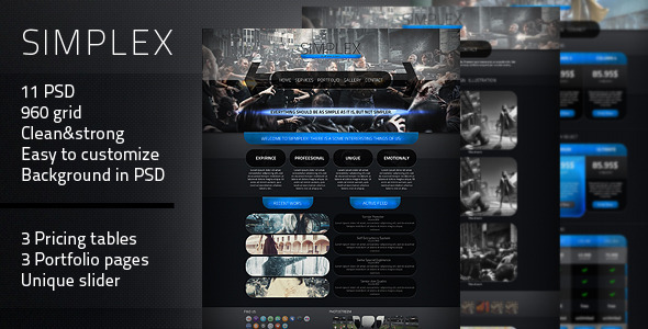 Simplex – PSD Theme