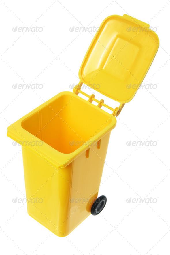 Miniature Garbage Bin - Stock Photo - Images