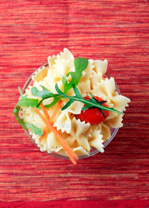 Bowl of bowtie pasta - Stock Photo - Images