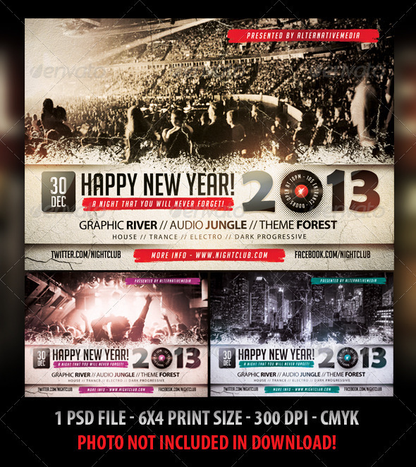 New Year Party  Concert Flyer By Fadeink  Graphicriver