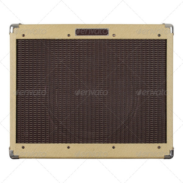 Guitar amplifier - Stock Photo - Images