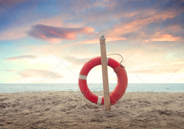 Security at the seaside - Stock Photo - Images