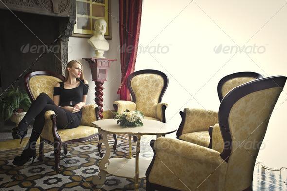 Luxury living room - Stock Photo - Images