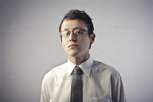 Snobbish businessman - Stock Photo - Images