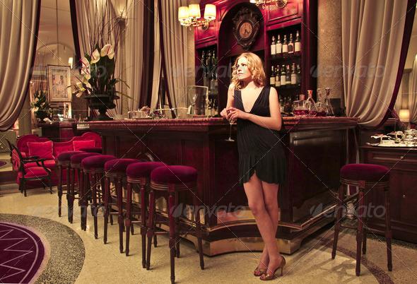 Lounge bar - Stock Photo - Images