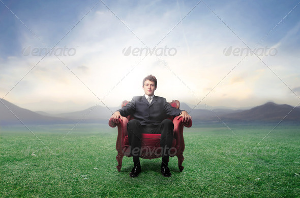 Leader in green - Stock Photo - Images