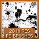 20 High Resolution Grunge Brushes - GraphicRiver Item for Sale