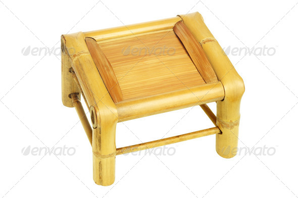 Bamboo Stool - Stock Photo - Images