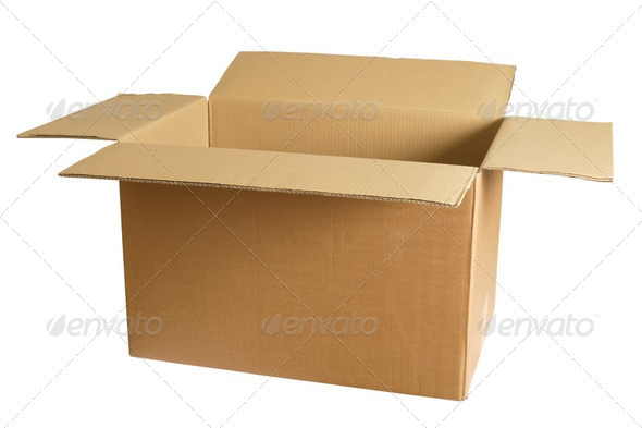 Empty cardboard box - Stock Photo - Images