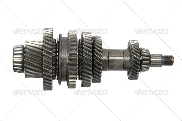 Transmission gears (isolated) - Stock Photo - Images