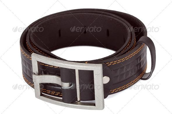Leather belt - Stock Photo - Images