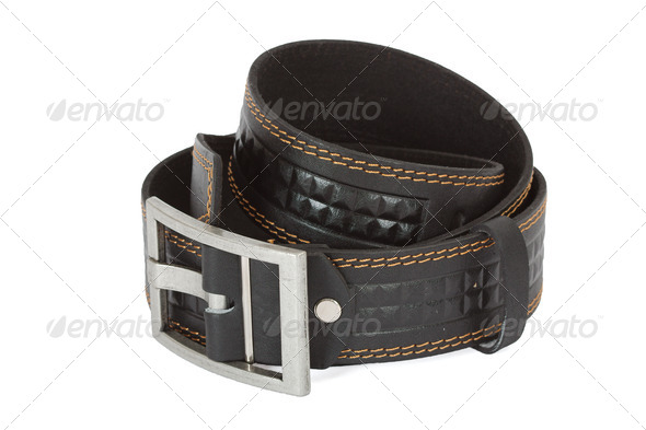 Leather belt - Stock Photo - Images