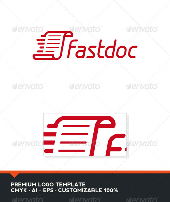 Fast Doc Logo Template by domibit | GraphicRiver