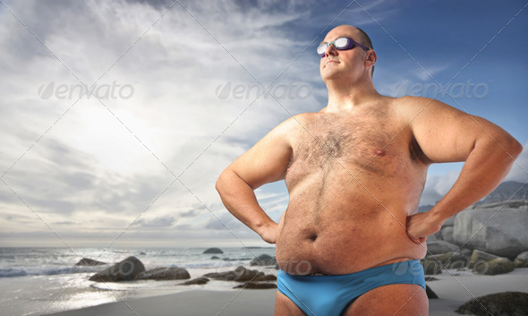 Fat Man - Stock Photo - Images