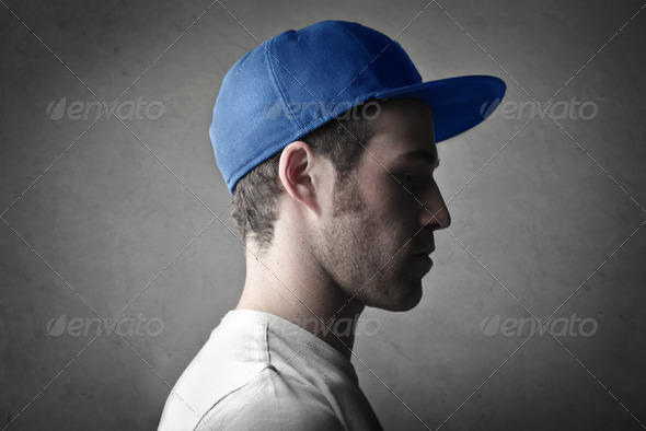 Blue Hat - Stock Photo - Images
