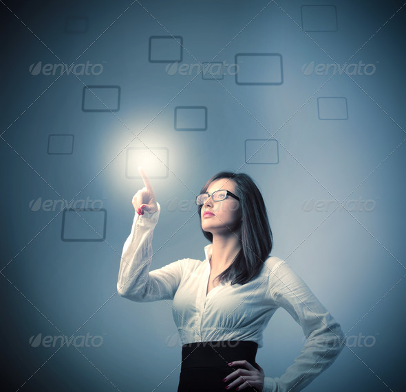 Business Finger - Stock Photo - Images