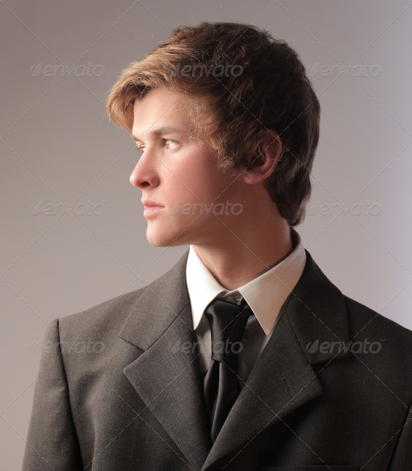 Young Businessman Profile - Stock Photo - Images