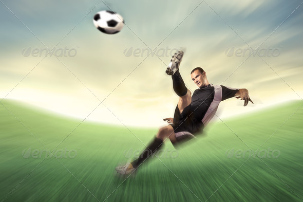 Strong Kick - Stock Photo - Images