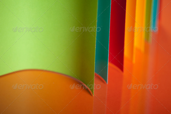 abstract colored paper structure on orange background - Stock Photo - Images