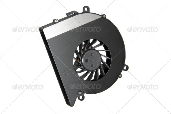 Cooler of laptop (isolated) - Stock Photo - Images