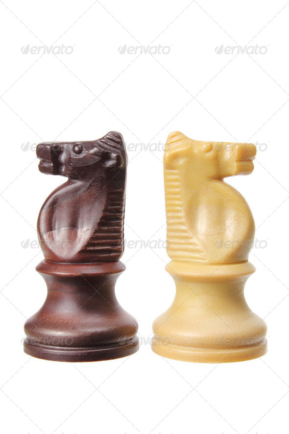 Knight Chess Pieces - Stock Photo - Images
