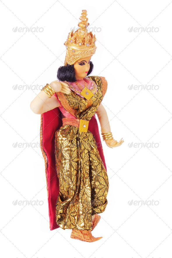 Thai Dancer Figurine - Stock Photo - Images