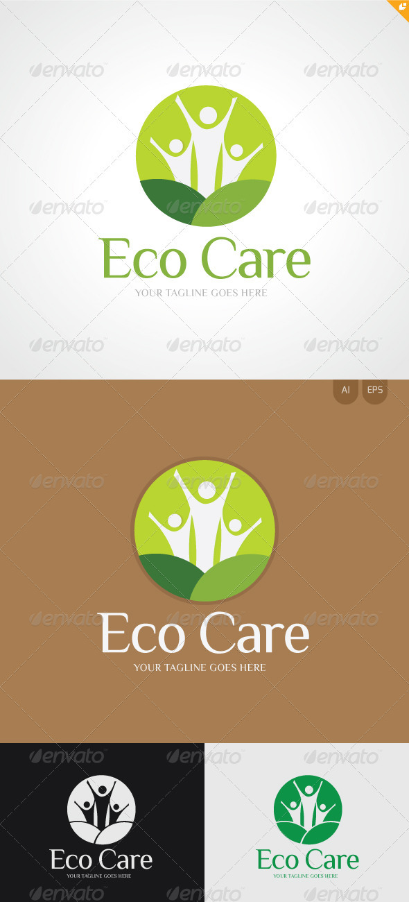 Eco Care Logo - Nature Logo Templates